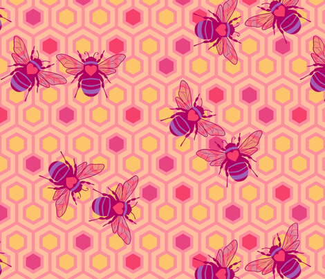 Honey Bee Mine? fabric by mariafaithgarcia on Spoonflower - custom fabric