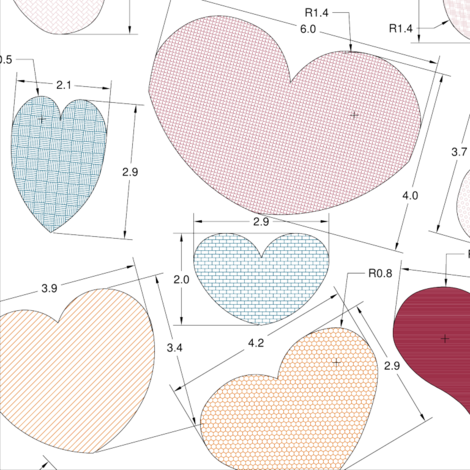 Engineered_Hearts fabric by nicolle on Spoonflower - custom fabric