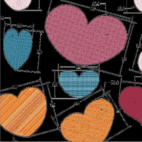Engineered_Hearts fabric by nicolle on Spoonflower - custom fabric