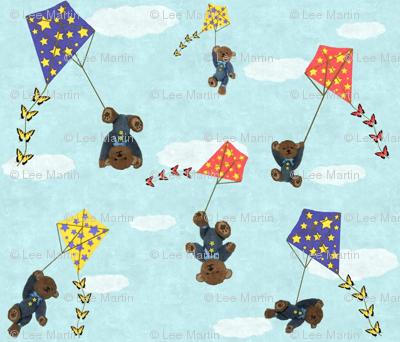Bears Flying Kites