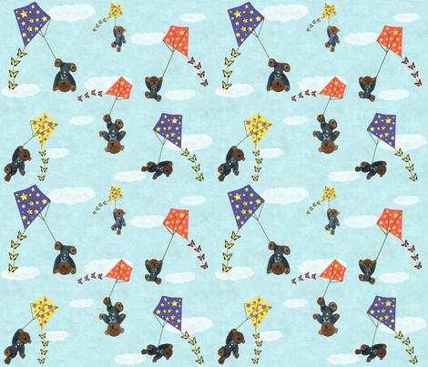 Bears Flying Kites fabric by jabiroo on Spoonflower - custom fabric