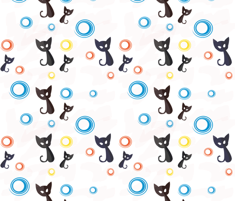 Bubbley Cats fabric by lirib on Spoonflower - custom fabric