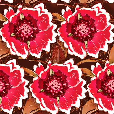 garden pink flowers  fabric by dk_designs on Spoonflower - custom fabric