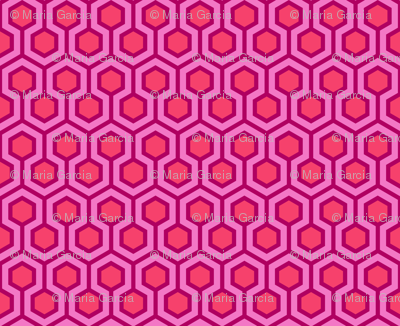 Honeycomb Geometric Pink