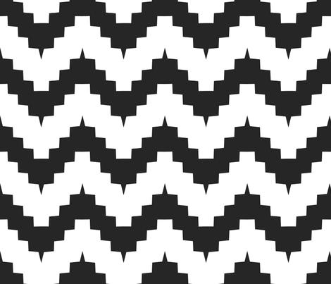 Funky chevron black and white