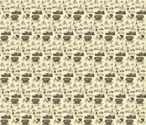 vintage wheels fabric by krs_expressions on Spoonflower - custom fabric
