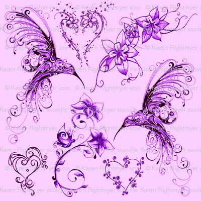 hummingbirds - lavender