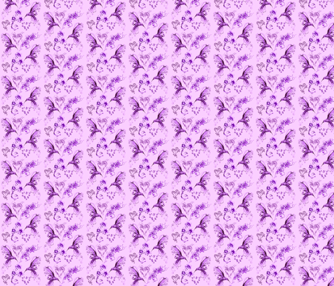 hummingbirds - lavender fabric by krs_expressions on Spoonflower - custom fabric
