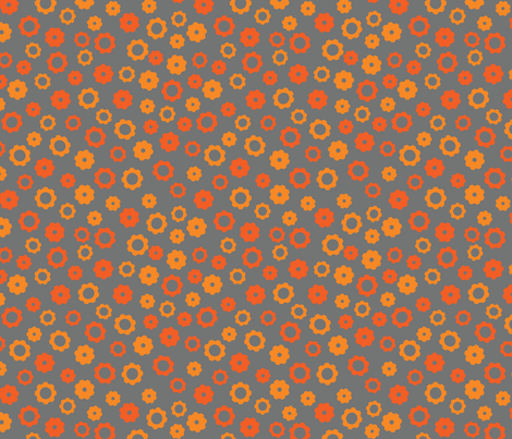 Robotika Gears (Orange) fabric by robyriker on Spoonflower - custom fabric