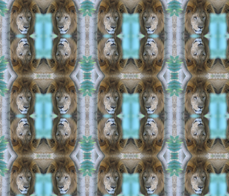 Lions fabric by ravynscache on Spoonflower - custom fabric