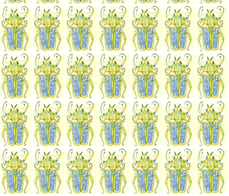 First Beetle fabric by bad_penny on Spoonflower - custom fabric