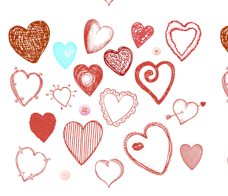 A Love of Hearts fabric by south4winter on Spoonflower - custom fabric