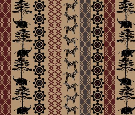 Africa Nouveau fabric by jabiroo on Spoonflower - custom fabric