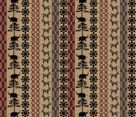 Africa Nouveau fabric by jabiroo on Spoonflower - custom fabric