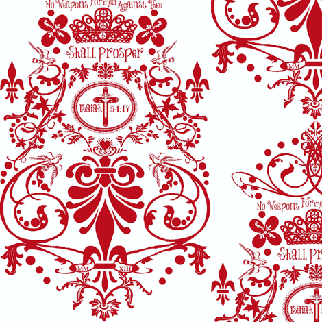 Mckinsey Red fabric by paragonstudios on Spoonflower - custom fabric