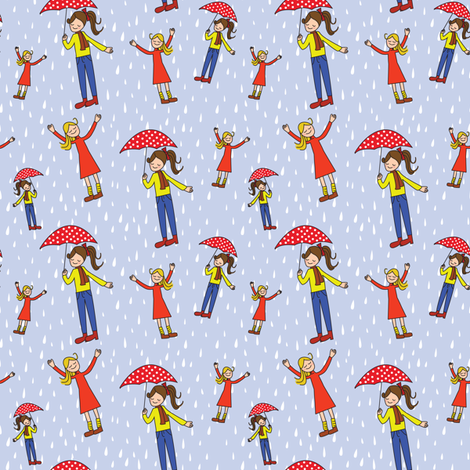 Rainy Day fabric by witee on Spoonflower - custom fabric