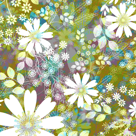 Meadow Morning Crisp fabric by joanmclemore on Spoonflower - custom fabric