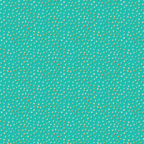 sketch_texture_dots_turquoise fabric by glimmericks on Spoonflower - custom fabric