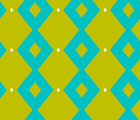 Blue and Green Geo fabric by south4winter on Spoonflower - custom fabric