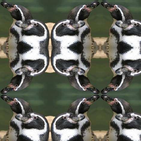 Penguin Profile fabric by ravynscache on Spoonflower - custom fabric