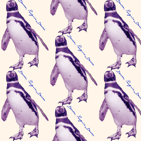 Dancing Penguin fabric by ravynscache on Spoonflower - custom fabric
