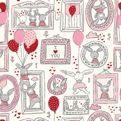 Funny_Bunny_Love fabric by stacyiesthsu on Spoonflower - custom fabric