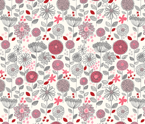 flowers_a_fantasy fabric by stacyiesthsu on Spoonflower - custom fabric