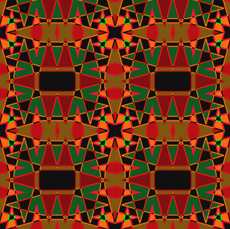 AfricanMix-heat fabric by grannynan on Spoonflower - custom fabric