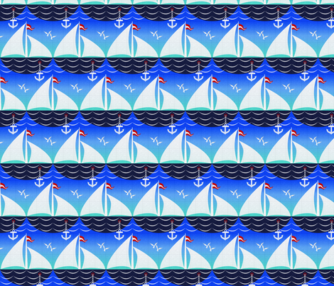 ship_scallop fabric by glimmericks on Spoonflower - custom fabric
