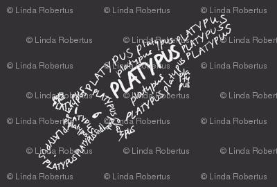 Platypus Calligram
