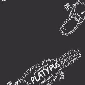 Platypus Calligram