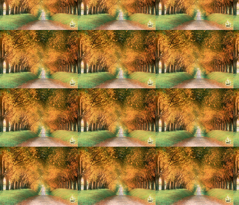 Autumn_Road_Cognac_Region_France_1024 fabric by anooj on Spoonflower - custom fabric