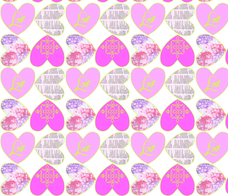 patroon_pink_groen fabric by rcmj on Spoonflower - custom fabric