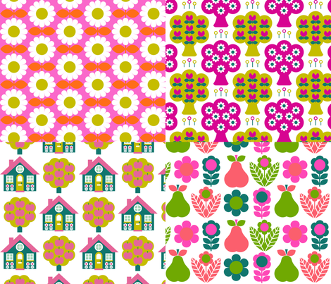 cushion_panels_for_Sophie__pinks_ fabric by aliceapple on Spoonflower - custom fabric