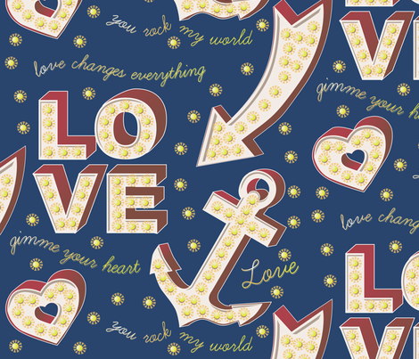 Say it loud! A sign of my love. fabric by creative_merritt on Spoonflower - custom fabric