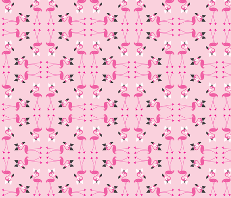 Flo Tile in Pink fabric by halfpinthome on Spoonflower - custom fabric