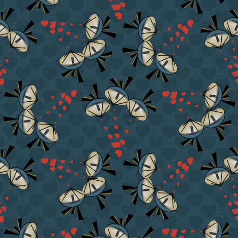 Little radar hearts fabric by motiver on Spoonflower - custom fabric