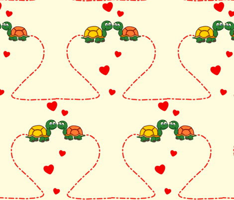 TurtleLove-ed fabric by dainty_little_things on Spoonflower - custom fabric
