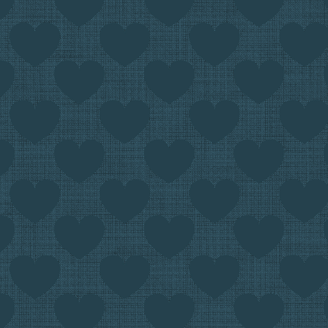 Hearts plain blue fabric by motiver on Spoonflower - custom fabric