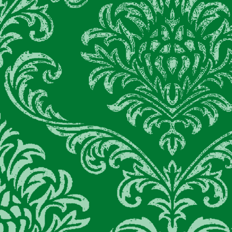 Timeless brocade/ Emerald fabric by paragonstudios on Spoonflower - custom fabric
