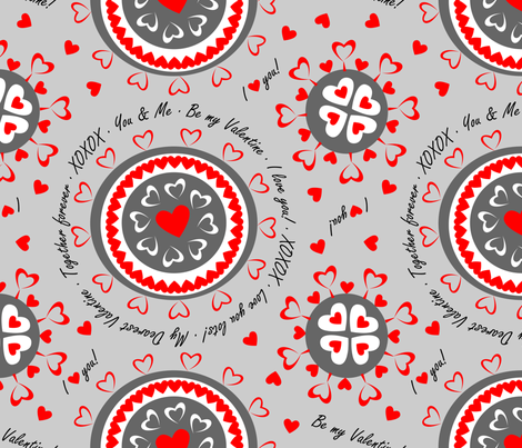 BeMyValentine fabric by terrih on Spoonflower - custom fabric