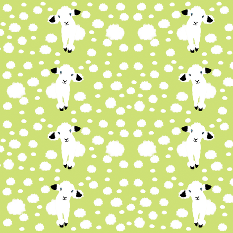 Baby Lambs fabric by animotaxis on Spoonflower - custom fabric