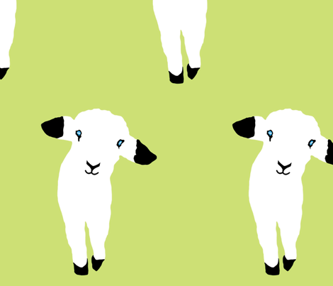 Cute Lamb Babies fabric by animotaxis on Spoonflower - custom fabric