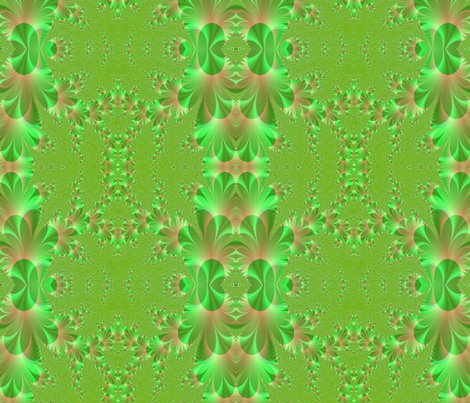 green-peach fabric by krs_expressions on Spoonflower - custom fabric