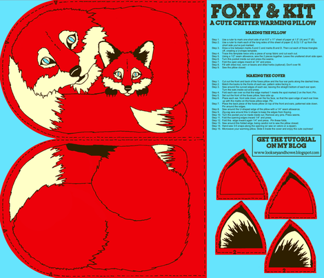 Foxy & Kit fabric by looksey+howe on Spoonflower - custom fabric