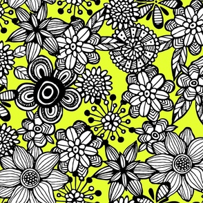 Pop Floral Bold Yellow