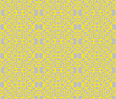 Yellow Atomic fabric by bymarie on Spoonflower - custom fabric