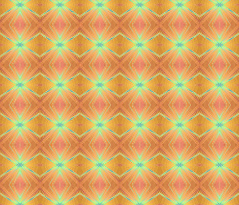 peach gold and blue diamonds fabric by krs_expressions on Spoonflower - custom fabric