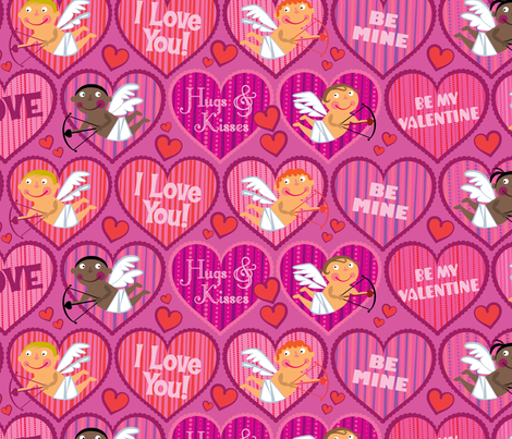 By My Valentine! fabric by edmillerdesign on Spoonflower - custom fabric