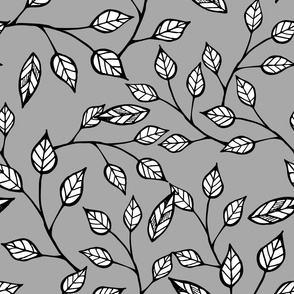 Pop Floral Branches Grey